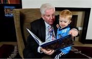 12 November 2019; In attendance at the Launch of A Season of Sundays 2019 at Croke Park in Dublin, are Sportsfile's Ray McManus, and his grandson Rian Cuddihy, aged 2, from Harold's Cross, Dublin. Photo by Sam Barnes/Sportsfile