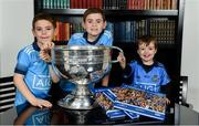 12 November 2019; In attendance at the Launch of A Season of Sundays 2019 at Croke Park in Dublin, is, Rory Whelan, aged 6, Sean Whelan, aged 8, and Jack Whelan, aged 5 from Bayside, Dublin. Photo by Sam Barnes/Sportsfile