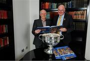 12 November 2019; In attendance at the Launch of A Season of Sundays 2019 at Croke Park in Dublin, are Uachtarán Cumann Lúthchleas Gael, John Horan, right, and John Comerford, Chief Operations Officer, Carrolls of Tullamore. Photo by Sam Barnes/Sportsfile