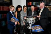 12 November 2019; In attendance at the Launch of A Season of Sundays 2019 at Croke Park in Dublin, are, from left, Cyril Brody, Carrolls of Tullamore, Patricia Blair, Carrolls of Tullamore, Laura Meaney, Carrolls of Tullamore, John Comerford, Chief Operations Officer, Carrolls of Tullamore, and Uachtarán Cumann Lúthchleas Gael, John Horan. Photo by Sam Barnes/Sportsfile