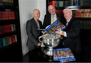 12 November 2019; In attendance at the Launch of A Season of Sundays 2019 at Croke Park in Dublin, are, from left, John Comerford, Chief Operations Officer, Carrolls of Tullamore, Uachtarán Cumann Lúthchleas Gael, John Horan, and Sportsfile's Ray McManus. Photo by Sam Barnes/Sportsfile