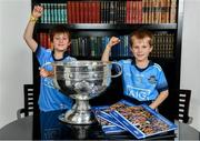 12 November 2019; In attendance at the Launch of A Season of Sundays 2019 at Croke Park in Dublin, are Joe McNamara, aged 9, and Patrick McNamara, aged 7, from Harold's Cross, Dublin. Photo by Sam Barnes/Sportsfile