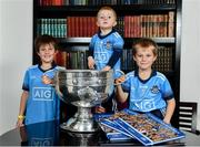 12 November 2019; In attendance at the Launch of A Season of Sundays 2019 at Croke Park in Dublin, are Rian Cuddihy, aged 2, grandson of Sportsfile's Ray McManus, centre, Joe McNamara, aged 9, left, and Patrick McNamara, aged 7, from Harold's Cross, Dublin. Photo by Sam Barnes/Sportsfile