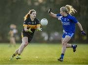 27 October 2019; Noelle Healy of Mourneabbey in action against Mairéad Wall of Ballymacarbry during the Munster Ladies Football Senior Club Championship Final match between Ballymacarbry and Mourneabbey at Galtee Rovers GAA Club, in Bansha, Tipperary. Photo by Harry Murphy/Sportsfile