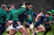 13 November 2019; Bundee Aki during a Connacht Rugby squad training session at The Sportsground in Galway. Photo by Brendan Moran/Sportsfile