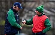 13 November 2019; Head coach Andy Friend, right, with forwards coach Jimmy Duffy during a Connacht Rugby squad training session at The Sportsground in Galway. Photo by Brendan Moran/Sportsfile
