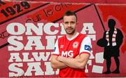 13 November 2019; Robbie Benson poses for a portrait at Richmond Park in Dublin after signing for St Patrick's Athletic. Photo by Matt Browne/Sportsfile