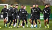 13 November 2019; Republic of Ireland players, including Jeff Hendrick and Matt Doherty during a Republic of Ireland training session at the FAI National Training Centre in Abbotstown, Dublin. Photo by Stephen McCarthy/Sportsfile