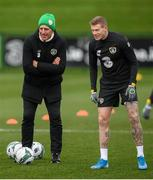 13 November 2019; Manager Mick McCarthy and James McClean during a Republic of Ireland training session at the FAI National Training Centre in Abbotstown, Dublin. Photo by Stephen McCarthy/Sportsfile