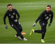 13 November 2019; Alan Judge, right, and Lee O'Connor during a Republic of Ireland training session at the FAI National Training Centre in Abbotstown, Dublin. Photo by Stephen McCarthy/Sportsfile