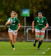 10 November 2019; Eimear Considine, left, and Nichola Fryday of Ireland during the Women's Rugby International match between Ireland and Wales at the UCD Bowl in Dublin. Photo by David Fitzgerald/Sportsfile