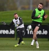 13 November 2019; Alan Judge, left, and Alan Browne during a Republic of Ireland training session at the FAI National Training Centre in Abbotstown, Dublin. Photo by Stephen McCarthy/Sportsfile