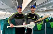 14 November 2019; Kilkenny hurlers departed Dublin Airport for New York today onboard Aer Lingus flight EI105. This is the fourth year that Aer Lingus is involved in the Hurling Classic and sees Ireland's only 4-Star airline as the Official Airline of the New York Hurling Classic. Matches take place in Citi Field, home of the New York Mets, on November 16th and are played in the Super 11s format. Limerick will be looking to retain the Hurling Classic title they won in 2018 as they take on Wexford in the first semi-final. Reigning All-Ireland champions Tipperary play Kilkenny in the second semi-final, followed by the final later that day. Pictured are Kilkenny players Eoin Murphy, left, and Conor Fogarty. Photo by Brendan Moran/Sportsfile
