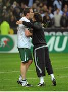 18 November 2009; Richard Dunne, left, and Stephen Hunt, Republic of Ireland, after the game. FIFA 2010 World Cup Qualifying Play-off 2nd Leg, Republic of Ireland v France, Stade de France, Saint-Denis, Paris, France. Picture credit: Stephen McCarthy / SPORTSFILE