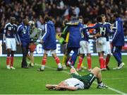 18 November 2009; Richard Dunne, Republic of Ireland reacts after the game. FIFA 2010 World Cup Qualifying Play-off 2nd Leg, Republic of Ireland v France, Stade de France, Saint-Denis, Paris, France. Picture credit: Stephen McCarthy / SPORTSFILE