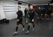 14 November 2019; Lee O'Connor, left, and Callum O'Dowda of Republic of Ireland prior to the 3 International Friendly match between Republic of Ireland and New Zealand at the Aviva Stadium in Dublin. Photo by Stephen McCarthy/Sportsfile