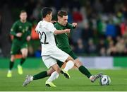 14 November 2019; Lee O'Connor of Republic of Ireland in action against Elijah Just of New Zealand during the International Friendly match between Republic of Ireland and New Zealand at the Aviva Stadium in Dublin. Photo by Seb Daly/Sportsfile