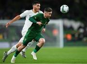 14 November 2019; Sean Maguire of Republic of Ireland in action against Michael Boxall of New Zealand during the International Friendly match between Republic of Ireland and New Zealand at the Aviva Stadium in Dublin. Photo by Seb Daly/Sportsfile