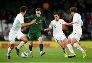 14 November 2019; Lee O'Connor of Republic of Ireland in action against Liberto Cacage, Elijah Just and Joe Bell of New Zealand during the International Friendly match between Republic of Ireland and New Zealand at the Aviva Stadium in Dublin. Photo by Seb Daly/Sportsfile