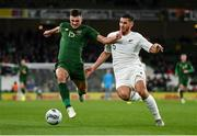 14 November 2019; Troy Parrott of Republic of Ireland in action against Michael Boxall of New Zealand during the International Friendly match between Republic of Ireland and New Zealand at the Aviva Stadium in Dublin. Photo by Seb Daly/Sportsfile