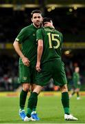 14 November 2019; Robbie Brady, left, and Troy Parrott of Republic of Ireland during the International Friendly match between Republic of Ireland and New Zealand at the Aviva Stadium in Dublin. Photo by Seb Daly/Sportsfile