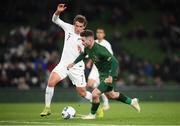 14 November 2019; Sean Maguire of Republic of Ireland in action against Joe Bell of New Zealand during the 3 International Friendly match between Republic of Ireland and New Zealand at the Aviva Stadium in Dublin. Photo by Stephen McCarthy/Sportsfile