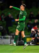 14 November 2019; Callum Robinson of Republic of Ireland celebrates after scoring his side's third goal during the International Friendly match between Republic of Ireland and New Zealand at the Aviva Stadium in Dublin. Photo by Seb Daly/Sportsfile