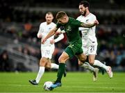 14 November 2019; James Collins of Republic of Ireland in action against Storm Roux of New Zealand during the International Friendly match between Republic of Ireland and New Zealand at the Aviva Stadium in Dublin. Photo by Seb Daly/Sportsfile