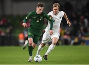 14 November 2019; Lee O'Connor of Republic of Ireland in action against Andre De Jong of New Zealand during the 3 International Friendly match between Republic of Ireland and New Zealand at the Aviva Stadium in Dublin. Photo by Stephen McCarthy/Sportsfile