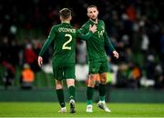 14 November 2019; Conor Hourihane of Republic of Ireland with Lee O'Connor following the International Friendly match between Republic of Ireland and New Zealand at the Aviva Stadium in Dublin. Photo by Eóin Noonan/Sportsfile