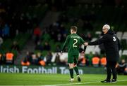 14 November 2019; Republic of Ireland manager Mick McCarthy with Lee O'Connor of Republic of Ireland during the International Friendly match between Republic of Ireland and New Zealand at the Aviva Stadium in Dublin. Photo by Eóin Noonan/Sportsfile