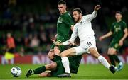 14 November 2019; Kevin Long of Republic of Ireland in action against Elliott Collier of New Zealand during the International Friendly match between Republic of Ireland and New Zealand at the Aviva Stadium in Dublin. Photo by Eóin Noonan/Sportsfile