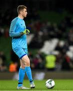 14 November 2019; Mark Travers of Republic of Ireland during the International Friendly match between Republic of Ireland and New Zealand at the Aviva Stadium in Dublin. Photo by Eóin Noonan/Sportsfile