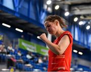 15 November 2019; Chloe Magee of Ireland celebrates winning a point during her mixed doubles quarter-final match against Mathias Thyrri and Mai Surrow of Denmark at the AIG FZ Forza Irish Open Badminton Championships at the National Indoor Arena in Abbotstown, Dublin. Photo by Seb Daly/Sportsfile