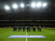 14 November 2019; An Garda Síochána band prior to during the International Friendly match between Republic of Ireland and New Zealand at the Aviva Stadium in Dublin. Photo by Stephen McCarthy/Sportsfile