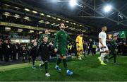 14 November 2019; Republic of Ireland captain Robbie Brady leads his side out prior to the International Friendly match between Republic of Ireland and New Zealand at the Aviva Stadium in Dublin. Photo by Stephen McCarthy/Sportsfile
