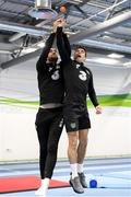 15 November 2019; Shane Duffy, left, and Seamus Coleman during a Republic of Ireland gym session at the Sport Ireland Institute in Abbotstown, Dublin. Photo by Stephen McCarthy/Sportsfile