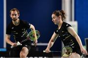 15 November 2019; Chloe Magee, right, and Sam Magee of Ireland in action during their mixed doubles semi-final match against Anne Tran and Ronan Labar of France at the AIG FZ Forza Irish Open Badminton Championships at the National Indoor Arena in Abbotstown, Dublin. Photo by Seb Daly/Sportsfile