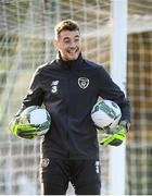 15 November 2019; Mark Travers during a Republic of Ireland training session at the FAI National Training Centre in Abbotstown, Dublin. Photo by Stephen McCarthy/Sportsfile
