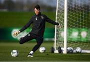 15 November 2019; Kieran O'Hara during a Republic of Ireland training session at the FAI National Training Centre in Abbotstown, Dublin. Photo by Stephen McCarthy/Sportsfile