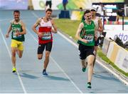 15 November 2019; Team Ireland's David Leavy, from Downpatrick, Down, competing in the T38 Men's 1500 metre race during day nine of the World Para Athletics Championships 2019 at Dubai Club for People of Determination Stadium in Dubai, United Arab Emirates. Photo by Ben Booth/Sportsfile