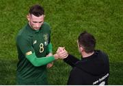 14 November 2019; Alan Browne of Republic of Ireland and Republic of Ireland assistant coach Robbie Keane during the International Friendly match between Republic of Ireland and New Zealand at the Aviva Stadium in Dublin. Photo by Ben McShane/Sportsfile