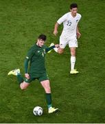 14 November 2019; Kevin Long of Republic of Ireland and Elijah Just of New Zealand during the International Friendly match between Republic of Ireland and New Zealand at the Aviva Stadium in Dublin. Photo by Ben McShane/Sportsfile