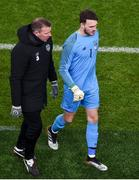 14 November 2019; Kieran O'Hara of Republic of Ireland and Republic of Ireland goalkeeping coach Alan Kelly during the International Friendly match between Republic of Ireland and New Zealand at the Aviva Stadium in Dublin. Photo by Ben McShane/Sportsfile