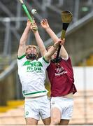 16 November 2019; Darren Mullen of Ballyhale Shamrocks in action against Jake Firman of St Martin's during the AIB Leinster GAA Hurling Senior Club Championship semi-final match between Ballyhale Shamrocks and St Martin's at Nowlan Park in Kilkenny. Photo by Matt Browne/Sportsfile