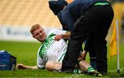 16 November 2019; Adrian Mullen of Ballyhale Shamrocks receives treatment for an injury before leaving the field during the AIB Leinster GAA Hurling Senior Club Championship semi-final match between Ballyhale Shamrocks and St Martin's at Nowlan Park in Kilkenny. Photo by Matt Browne/Sportsfile