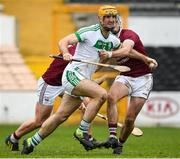 16 November 2019; Colin Fennelly of Ballyhale Shamrocks in action against Aaron Maddock and Conor Firman St Martin's during the AIB Leinster GAA Hurling Senior Club Championship semi-final match between Ballyhale Shamrocks and St Martin's at Nowlan Park in Kilkenny. Photo by Matt Browne/Sportsfile