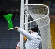 10 November 2019; An umpire waves a green flag to indicate a goal had been scored, for Glen Rovers, during the AIB Munster GAA Hurling Senior Club Championship Semi-Final match between Borris-Ileigh and Glen Rovers at Semple Stadium in Thurles, Tipperary. Photo by Ray McManus/Sportsfile