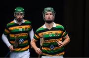 10 November 2019; Brian Moylan of Glen Rovers and Liam Coughlan, left, before the AIB Munster GAA Hurling Senior Club Championship Semi-Final match between Borris-Ileigh and Glen Rovers at Semple Stadium in Thurles, Tipperary. Photo by Ray McManus/Sportsfile