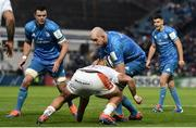16 November 2019; Devin Toner of Leinster is tackled by Marco Riccioni of Benetton during the Heineken Champions Cup Pool 1 Round 1 match between Leinster and Benetton at the RDS Arena in Dublin. Photo by Sam Barnes/Sportsfile